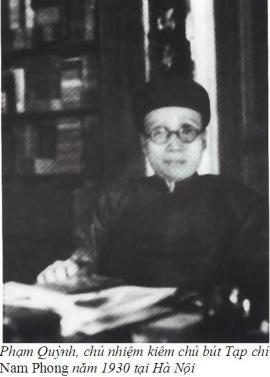 Pham Quynh chu but Nam Phong