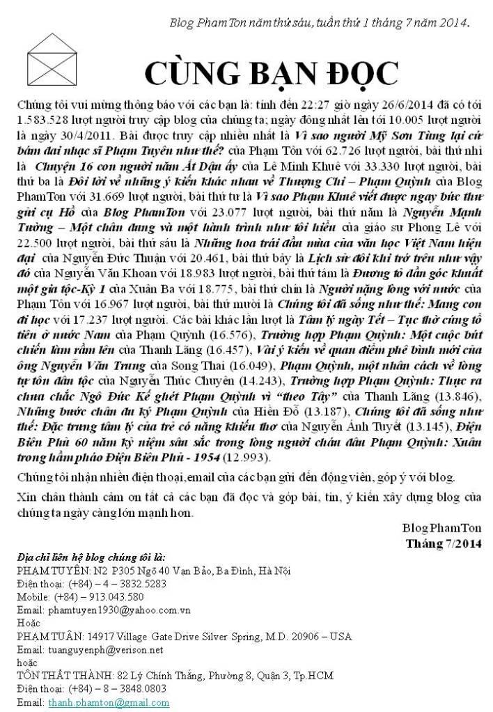 cung ban doc (tuan 1 thang 7 nam 2014)