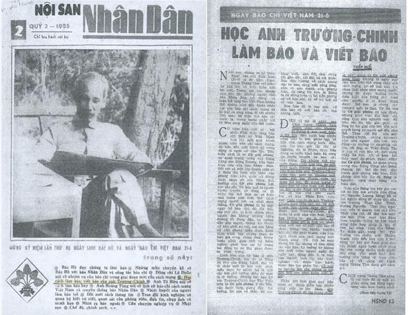 Noi san Nhan Dan hoc anh truong chinh lam bao